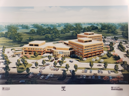St. Luke's South campus rendering. Sun Newspaper Collection, Johnson County Museum.
