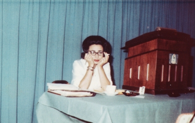 Ruth Shechter at the Plains State Anti-Defamation League meeting in 1962 in Omaha.